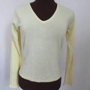 Women's NY & Company canary yellow pullover sweate